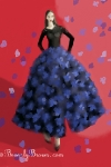 Raf Simons for Christian Dior Couture - Black Dress Blue Flowers