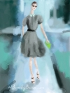 NY Fashion Week Spring 2012 ipad sketch - Jason Wu