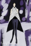 Ipad Fashion Illustration - Paris Fashion Week 2012  - Gareth Pugh