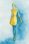 Yellow Dress - Cacharel Fall 2012