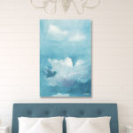 Blue and White Clouds Wall Art