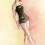 Watercolor Fashion Illustration 1940s Vintage Style|Beverly Brown Artist
