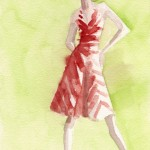 Red & White Striped Dress