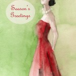Fashion Holiday Card Art Christmas Card