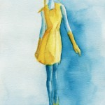 Watercolor Fashion Illustration - Yellow Dress|Beverly Brown Artist
