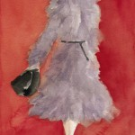 Watercolor Fashion Illustration - Grey Coat|Beverly Brown Artist
