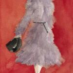 Gray Coat Watercolor Fashion Illustration