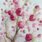 watercolor painting of cherry blossoms|Beverly Brown Artist
