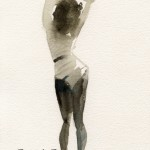Black and White Figurative Painting|Beverly Brown Artist
