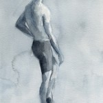 Black and White Male figure Painting|Beverly Brown Artist