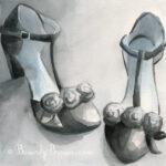 Black T Strap Shoes