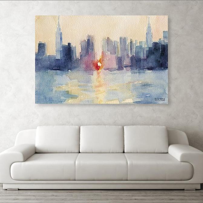New York Colour Portrait Canvas Wall Art Picture Print