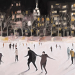 New York Nocturne: Ice Skaters in Bryant Park