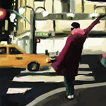 Taxi Fifth Avenue New York | Beverly Brown Artist