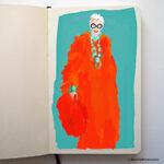 iris apfel sketch by Beverly Brown