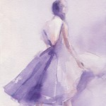 lavender dress fashion art print