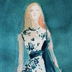 NYFW Fashion Sketch by Beverly Brown