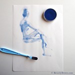 Blue Figure Sketch by Beverly Brown