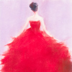 The Red Evening Dress - painting by Beverly Brown