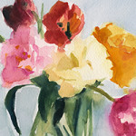 Tulips in my studio - Beverly Brown artist