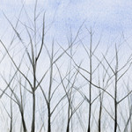 winter trees art by Beverly Brown