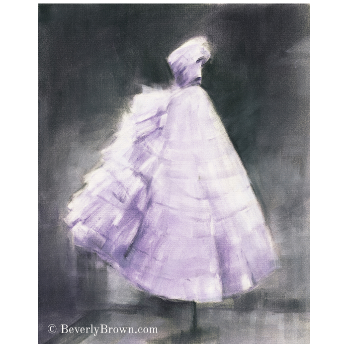 Lavender and gray fashion wall art by Beverly Brown - www.beverlybrown.com