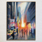 Midtown Manhattan Sunset New York City Art Print Canvas